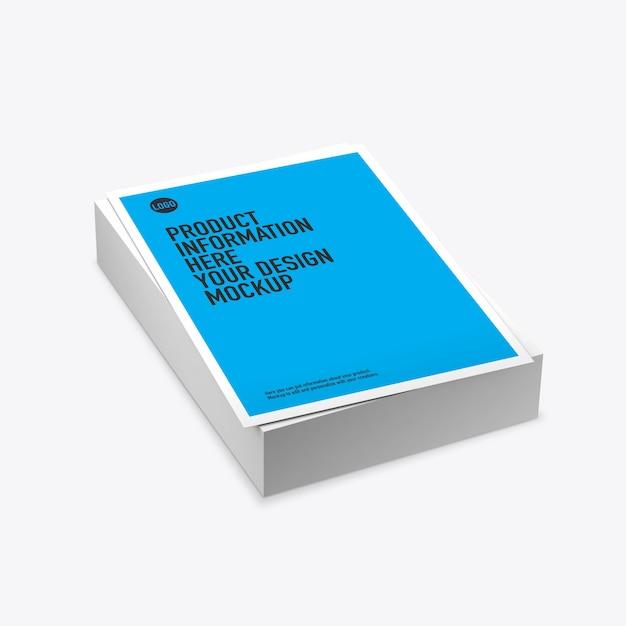 Стек макет печатных листов на пустое пространство Premium Psd