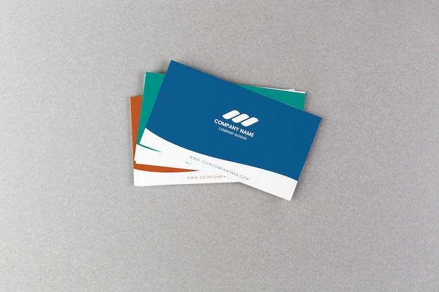 Стек на визитных карточках Бесплатные Psd
