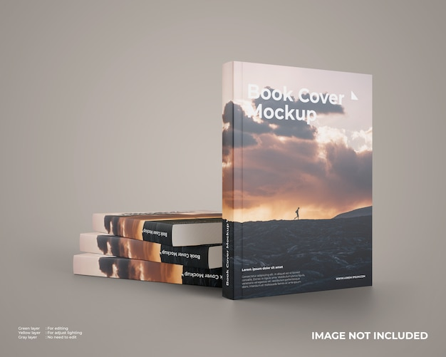 Stacked softcover book mockup Premium Psd