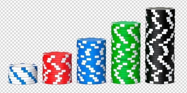 Стеки покерных фишек казино Premium Psd