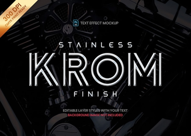 Stainless steel chrome logo text effect template Premium Psd