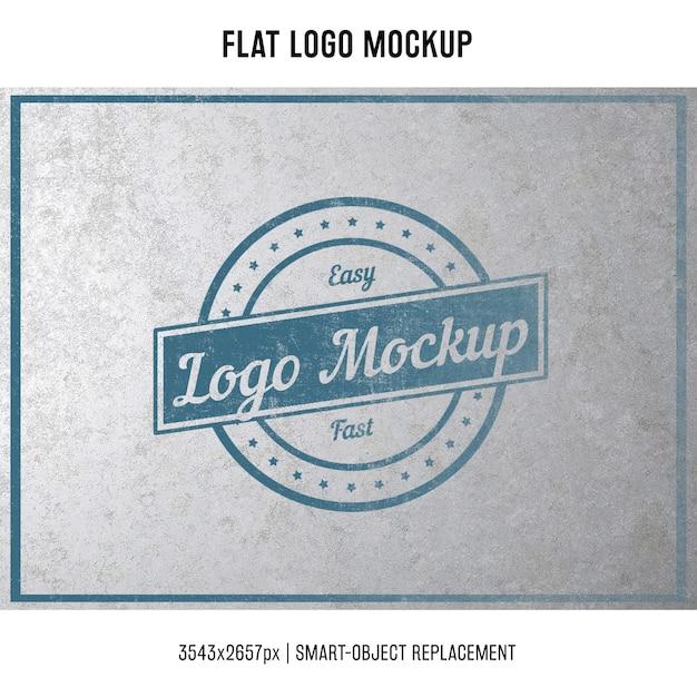 Stamped logo mock up Free Psd