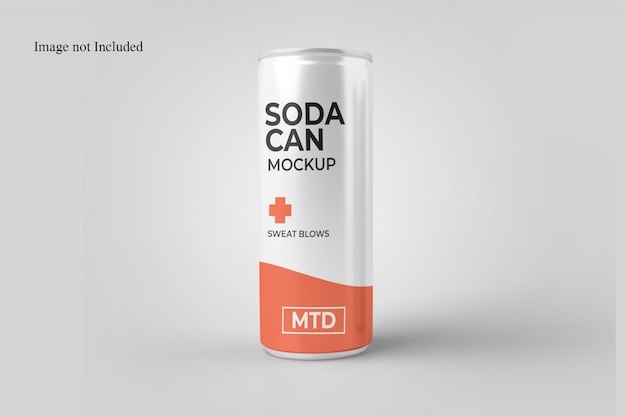 Standing soda can mockup Premium Psd