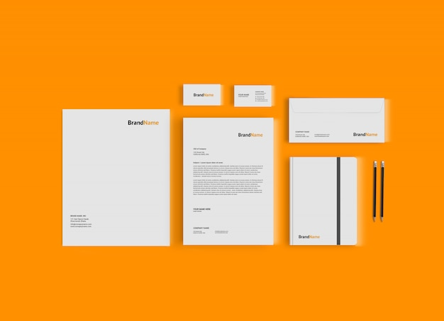Stationary mock-up template Premium Psd