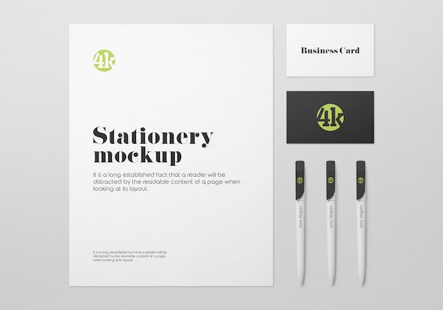 Stationary mockup template Premium Psd