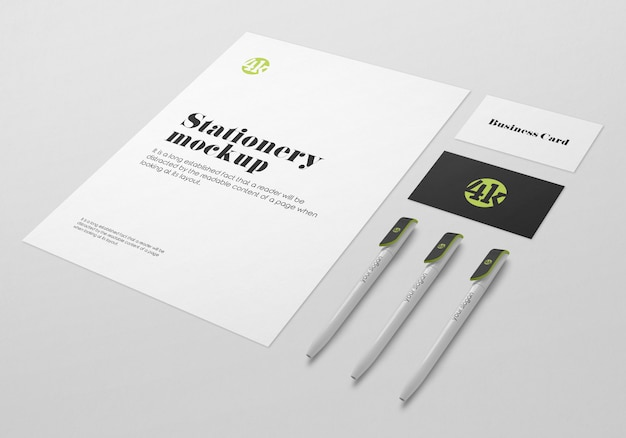 Stationary mockup template Premium Psd
