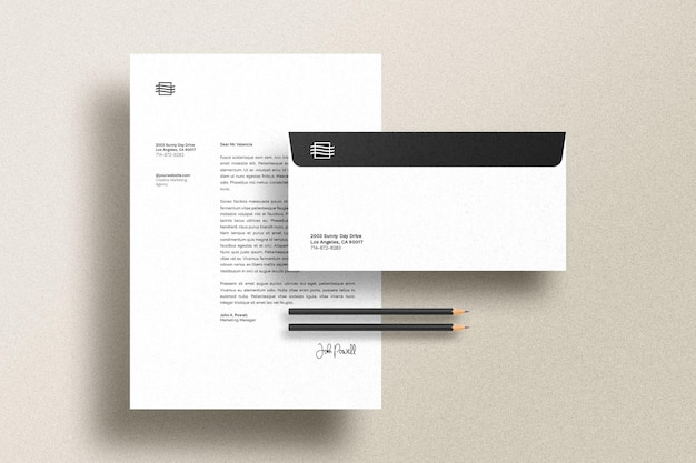 Stationary set mockup Free Psd
