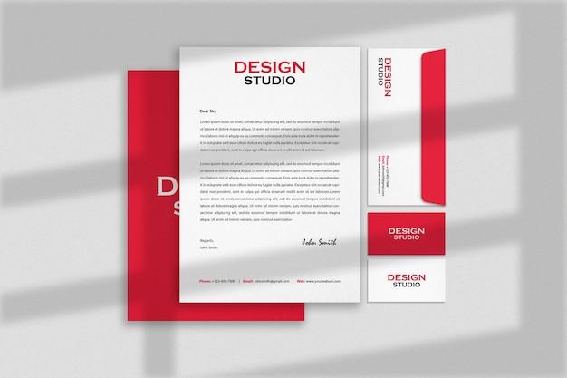 Stationery branding identity mockup design Premium Psd