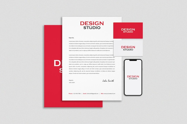 Stationery and branding mockup design Premium Psd
