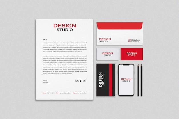 Stationery and branding mockup design Premium Psd