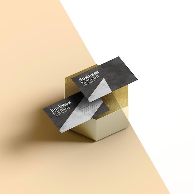 Канцелярские визитки на абстрактной сотовой форме Premium Psd