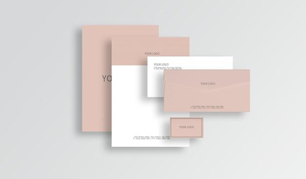 편지지 모의 프리미엄 PSD 파일