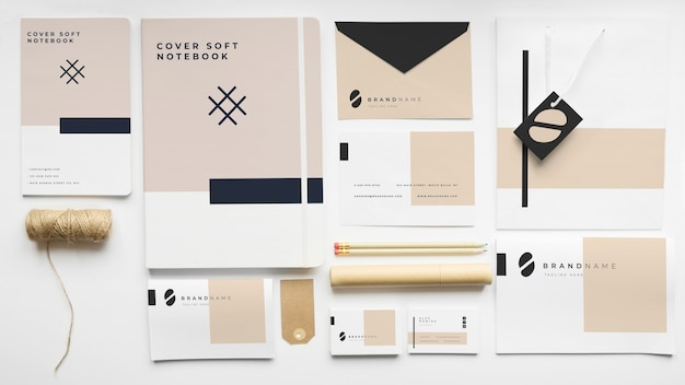 Stationery mockup of cover Free Psd