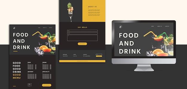 Stationery restaurant menu template Free Psd