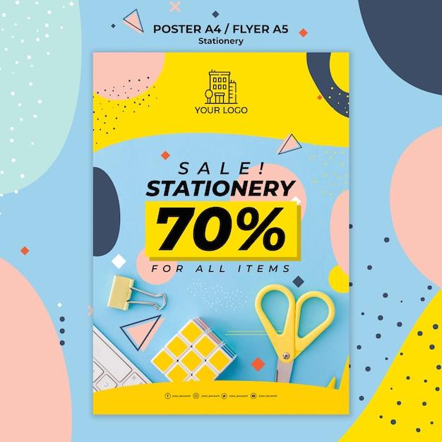 편지지 판매 포스터 인쇄 템플릿 무료 PSD 파일