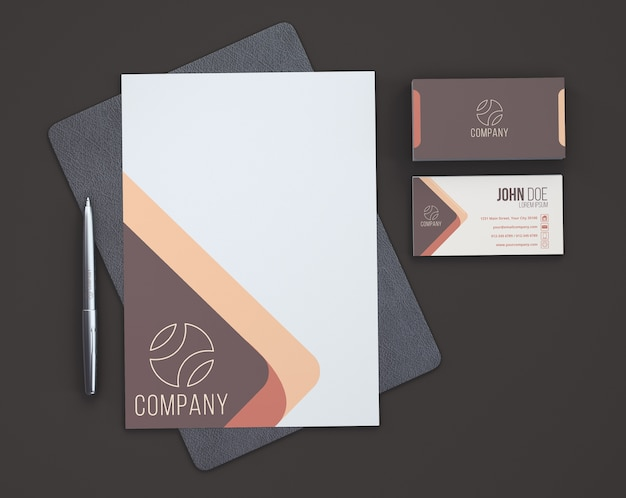 stationery showroom from above psd file free download