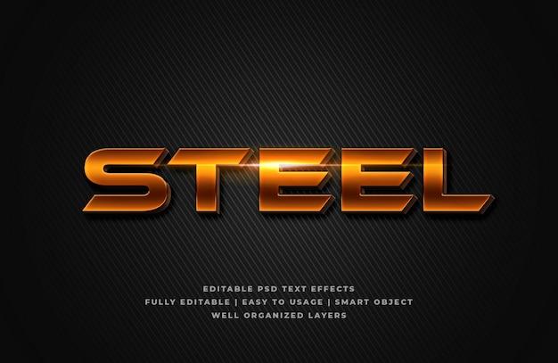 Steel 3d text style effect Premium Psd