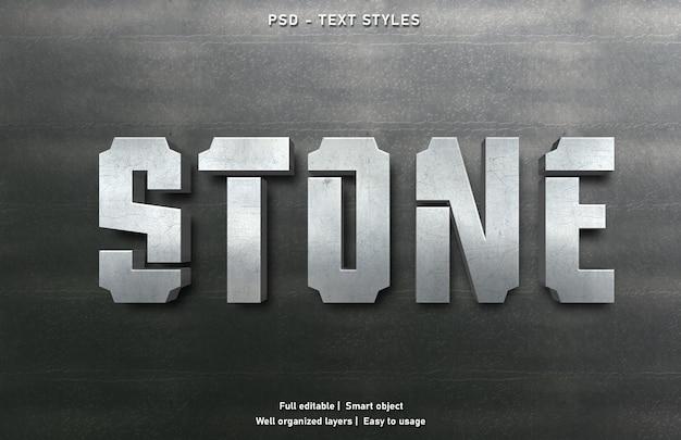 石のテキスト効果スタイルテンプレート Premium Psd
