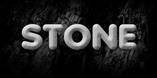 Stone text style effect Premium Psd