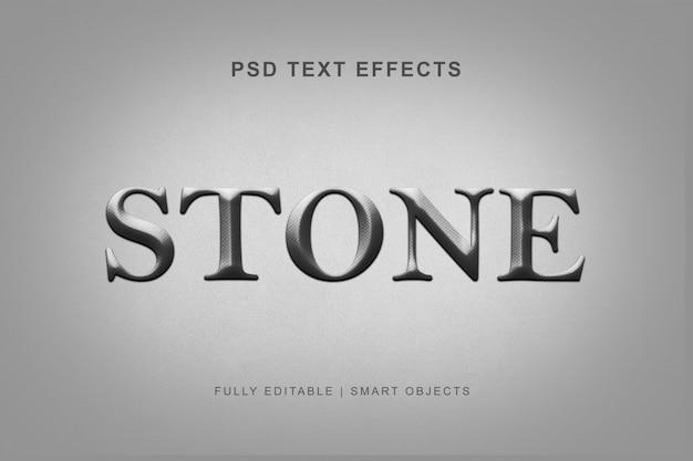 Stone text style effect Premium Psd