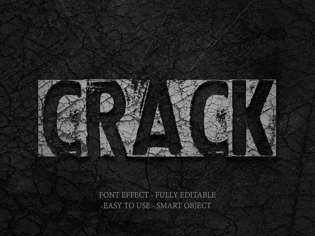 Stone wall crack 3d font effect Premium Psd