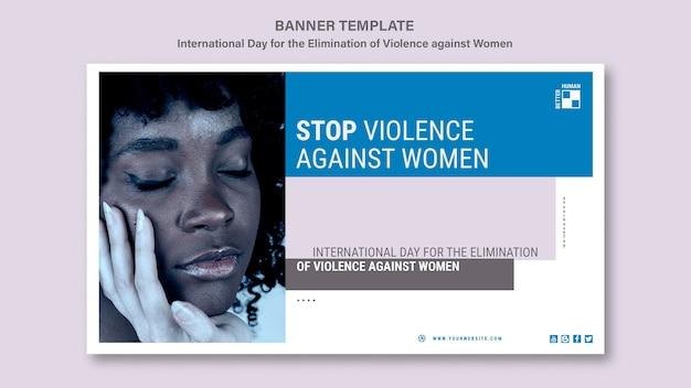 Fermare la violenza contro il modello di banner di donne Psd Gratuite