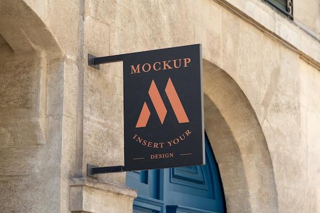 Store brand signboard mockup Premium Psd