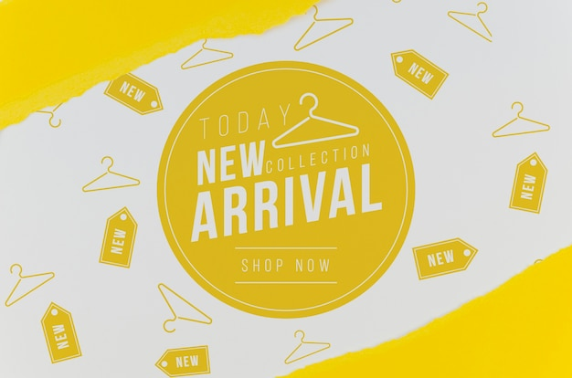Store new arrival mock-up on paper Free Psd