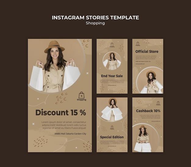Modello di storie di instagram di vendita del negozio Psd Gratuite