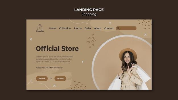 Modello di pagina di destinazione della vendita del negozio Psd Gratuite