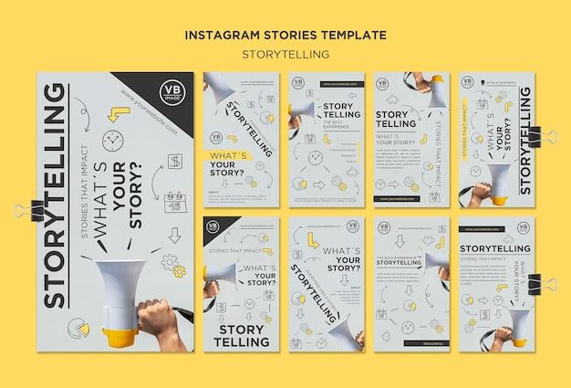 Storytelling instagram stories template Free Psd