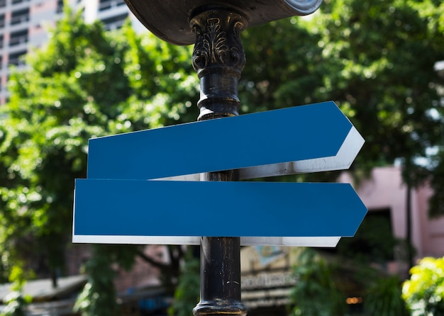 Street signs in city Free Psd