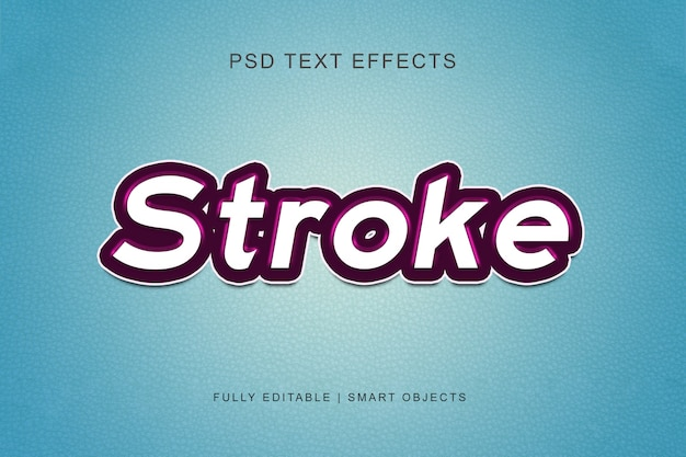 Stroke graphic style text effect Premium Psd