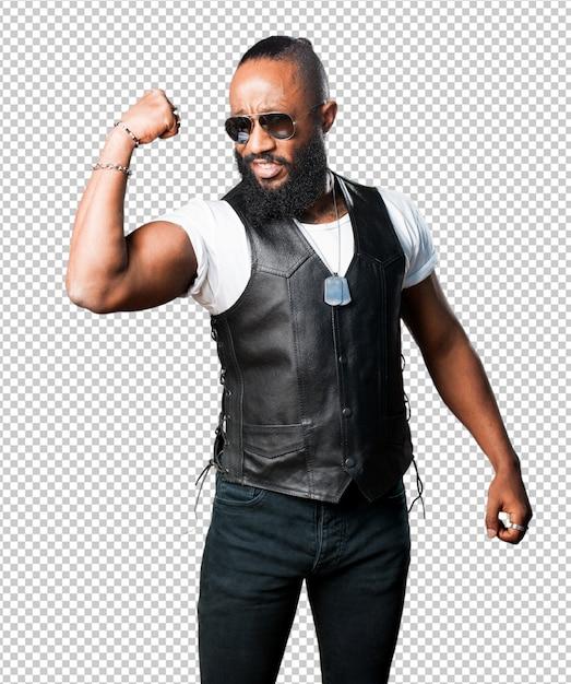 Strong black man Premium Psd