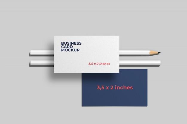 Stylish business card mockup Free Psd