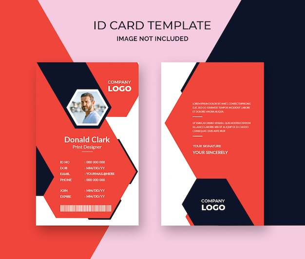Stylish Id Card Design Template