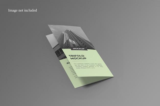 スタイリッシュな3つ折りパンフレットのモックアップ Premium Psd