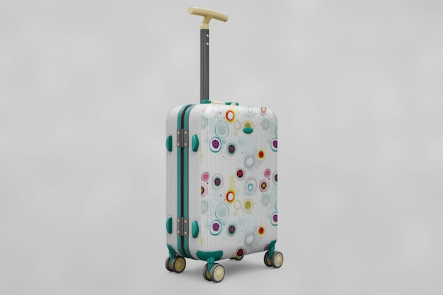 Suitcase trolley mock up Premium Psd