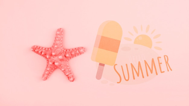 Summer background in living coral Free Psd