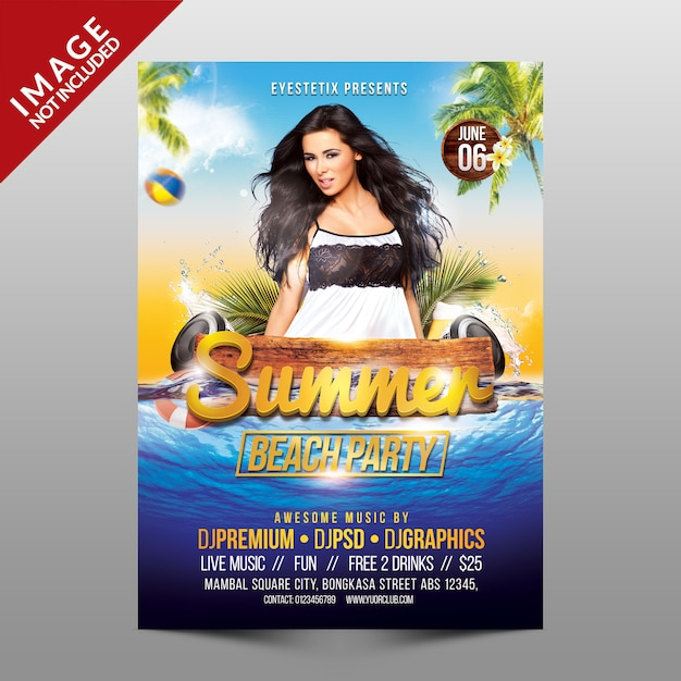 Summer beach party Premium Psd