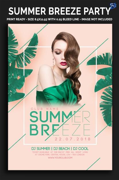Summer breeze party flyer Premium Psd