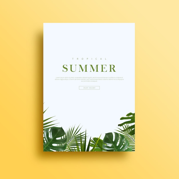 Summer card or banner Premium Psd