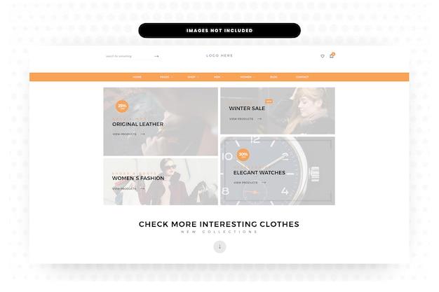 Summer clothing website landing page, homepage, header, slider Premium Psd