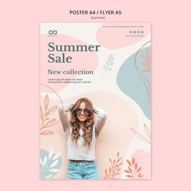 Летняя коллекция распродажа постеров Бесплатные Psd