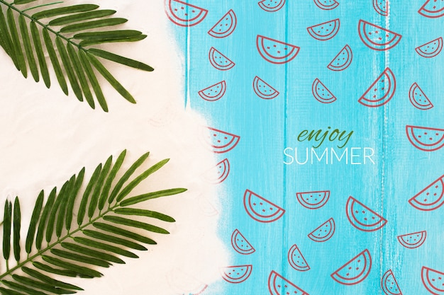 Summer concept mock up with image Free Psd