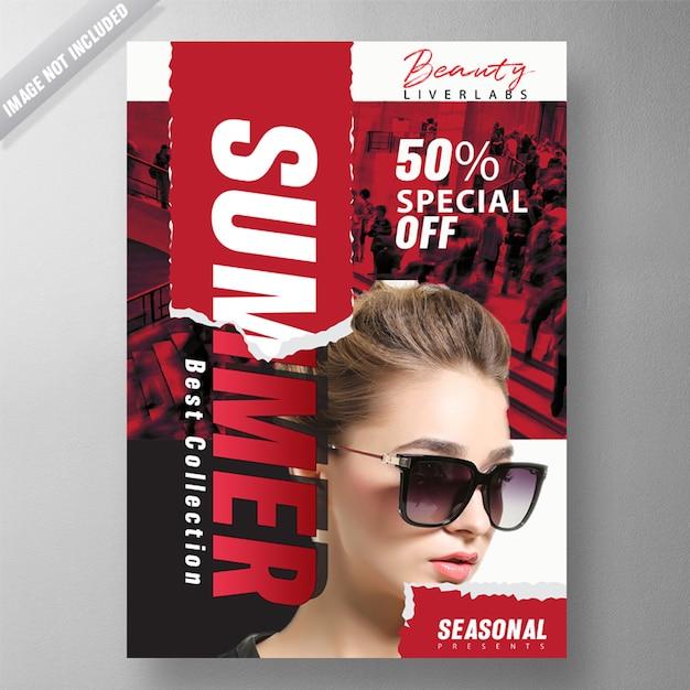 Summer fashion flyer Free Psd
