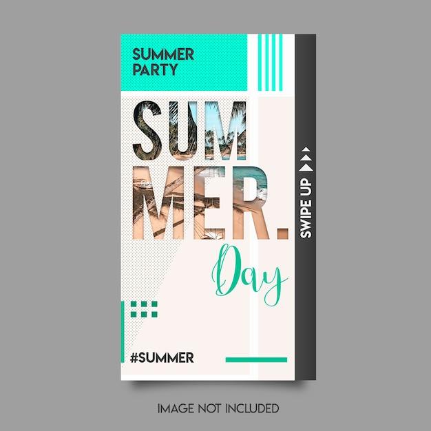 Summer instagram stories Premium Psd