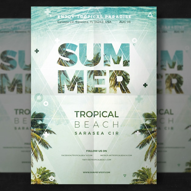 Summer Party Flyer Psd File  Free Download