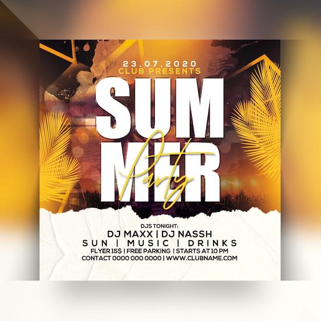 Summer party flyer Premium Psd