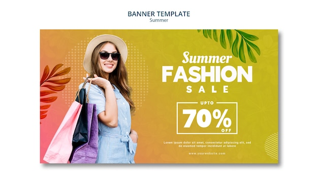 Summer sale 70% discount Free Psd